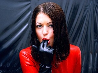 Latex webcam girl